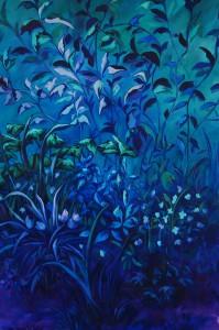 Garden 5 {Rue de Gravel, Corseul} - Huile sur toile - 170 x 100 cm