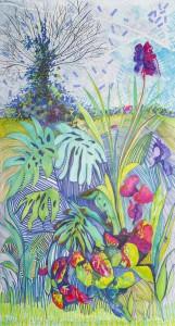 Jardín 1 {Corseul + 18 de Septiembre} - Marqueurs sur papier - 197 x 107 cm