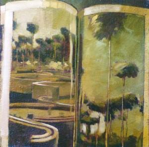 Sans titre, huile sur toile, 30 x 30 cm
