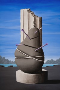 2 A certain idea of modernity (S. Sebastiano) - 200x140 - acrilico e carboncino su tela - 2013