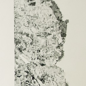 Transition 6 - crayon sur papier - 110 x 75 cm