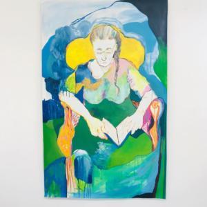 Juliana Dorso - La Liseuse - 2020 - Gouache - 100x150cm