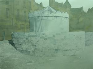 Manège, 2018. 92x124cm; Aquarelle sur papier.