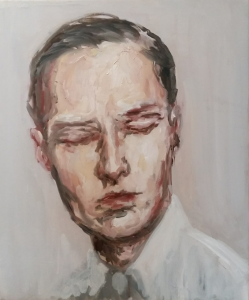 Portrait d'homme aux yeux clos