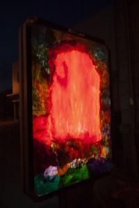 Certaines peintures se promènent - Flora Moscovici - Affiches dans la ville (nuit)