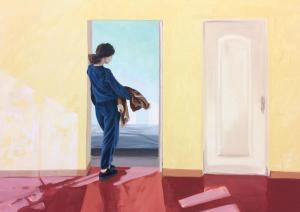 Coline Casse, La Prémonition 2018. Huile sur toile. 100x140cm