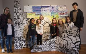 Présentation des oeuvres réalisées lors de l'exposition FUGUE