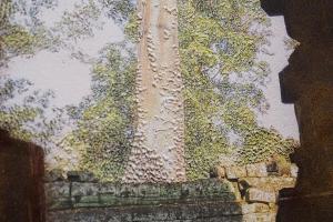 Raphaëlle Peria, Spelunca est templum#5, 2019 (détail). Pigment et grattage sur photographie. 60x45cm