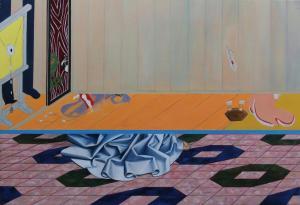 Début de RelationHuile sur toile, 89 x130 cm
