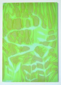 Serpent dans l'herbe, 2017encre d'aquarelle sur coton teinté140X100cm