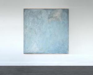 Sans titre 1 -  mars 21 | 2021Acrylique, spray, caséine, papier de soie, pigments et craie sur toile -160x160cm