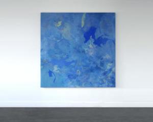Sans titre - fragment de lignes d'erre  | 2021Détrempe à la colle et acrylique sur toile - 160x160cm