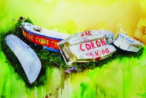 Cassandre Fournet - Inhérents #4, 2019 - Acrylique sur toile - 80x116 cm