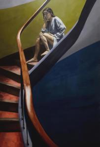 Coline Casse - Sans titre, 2019Huile sur toile - 130x195cm