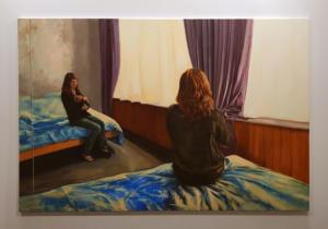Coline Casse - Les Grandes Mains, 2019 - Huile sur toile - 195x130cm