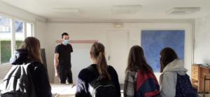 Ateliers de pratiques artistiques avec le collège Immaculée Conception de Créhen et les artistes Ymane Chabi-Gara et Iwan Warnet(c) APM