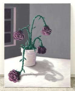 Les fleurs lasses, 2020, 80x65cm, huile sur toile