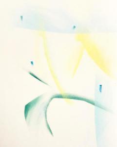 Kahina Loumi, Watermelon, 2021. Dessin au pastel sec sur papier, 20cm x 29cm.
