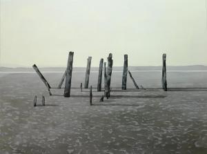 Sillages, 2018. 70x106cm. Aquarelle sur papier