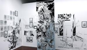 C.Hriech. Pessac - Expo Les arts au mur - La Distance en son lieu, 2018
