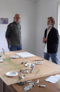 Claude Briand-Picard et Valentin Guichaux, artiste en résidence été 2021