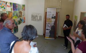 Présentation des réalisations faites pendant les ateliers de pratiques artistiques