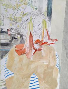 Camille Girard et Paul Brunet Bignone, 2019Gouache, acrylique et encre de chine sur papier, 65x50cm