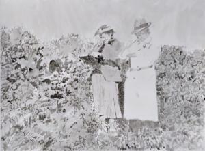 Camille Girard et Paul Brunet Yvonne et Mathurin, 2019Encre de chine su papier, 87x65cm