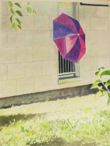Camille Girard et Paul BrunetLeParasol Encre de chine, gouache et acrylique sur papier  50x65cm