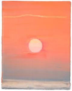 Clémentine Chalançon - Sans titre (soleil) -18,2x14,6cm - Huile sur toile 2020