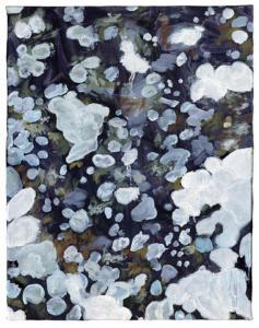 Lichen/Kunstakademie, huile sur toile, 35,2 x 27,9 cm, 2020